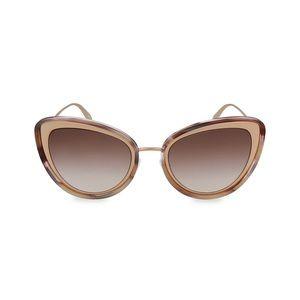 Alexander McQueen 54MM Cat Eye Sunglasses